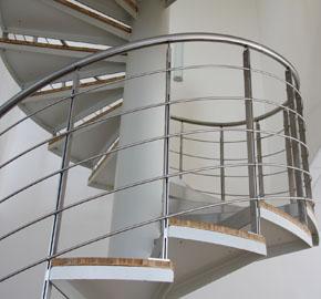 zábradlí k vřetenovitému schodišti